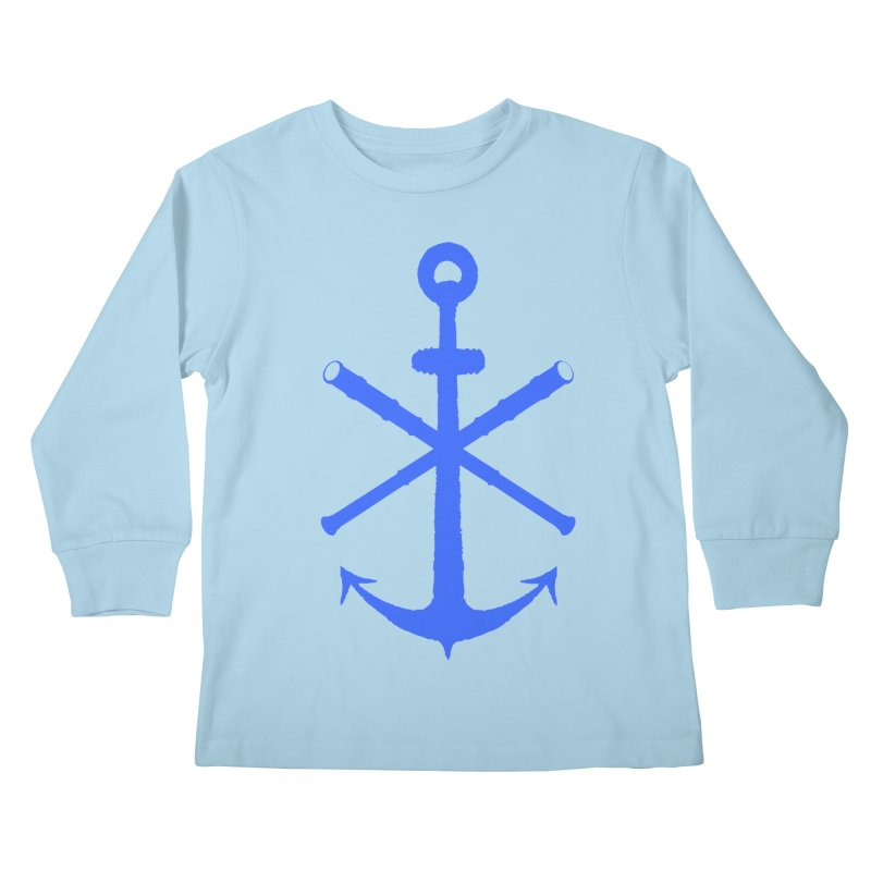 All Ways But Still Oversized Logo - Blue Kids Longsleeve T-Shirt by Sailor James