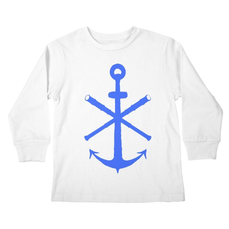 All Ways But Still Oversized Logo - Blue Kids Longsleeve T-Shirt by Sailor James