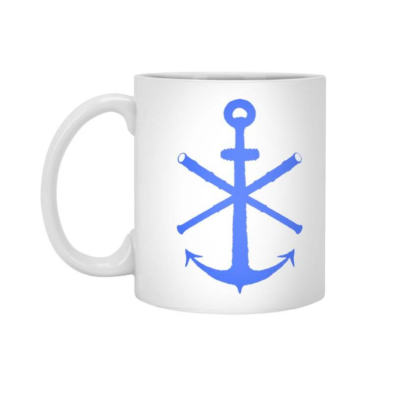 All Ways But Still Oversized Logo - Blue Accessories Standard Mug by Sailor James