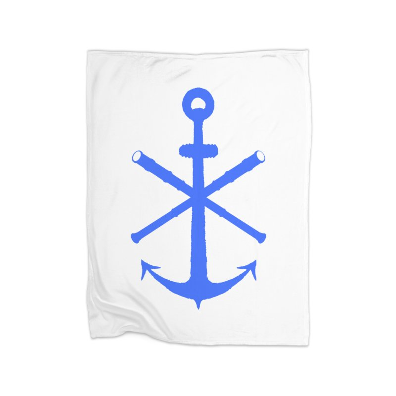 All Ways But Still Oversized Logo - Blue Home Blanket by Sailor James