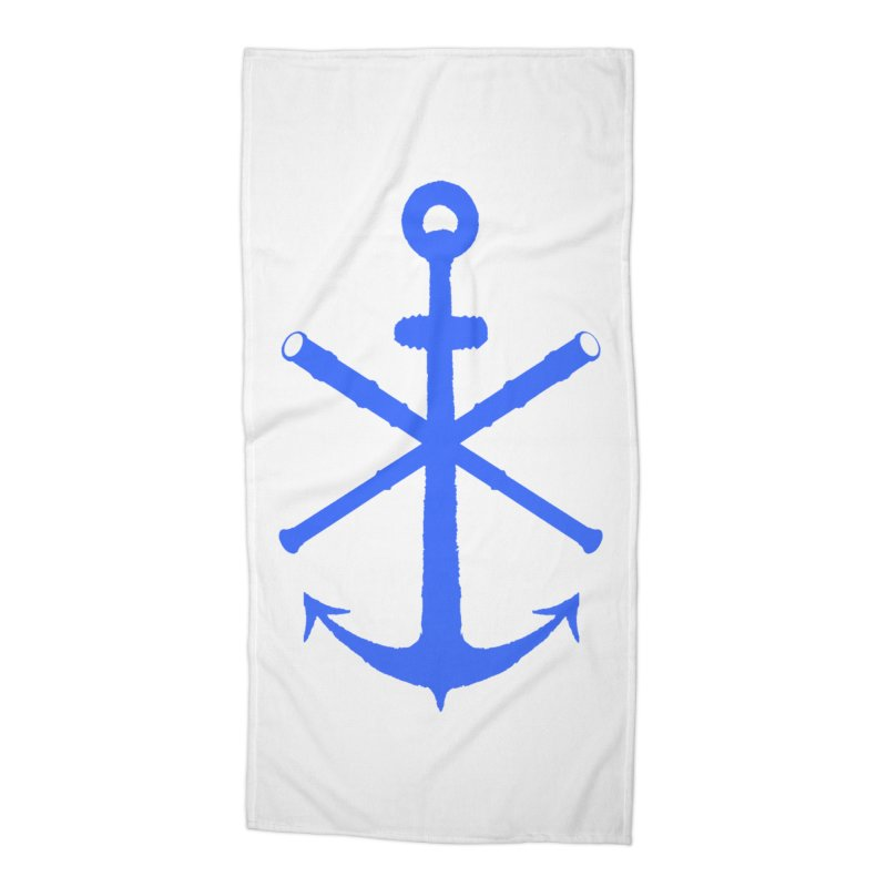 All Ways But Still Oversized Logo - Blue Accessories Beach Towel by Sailor James