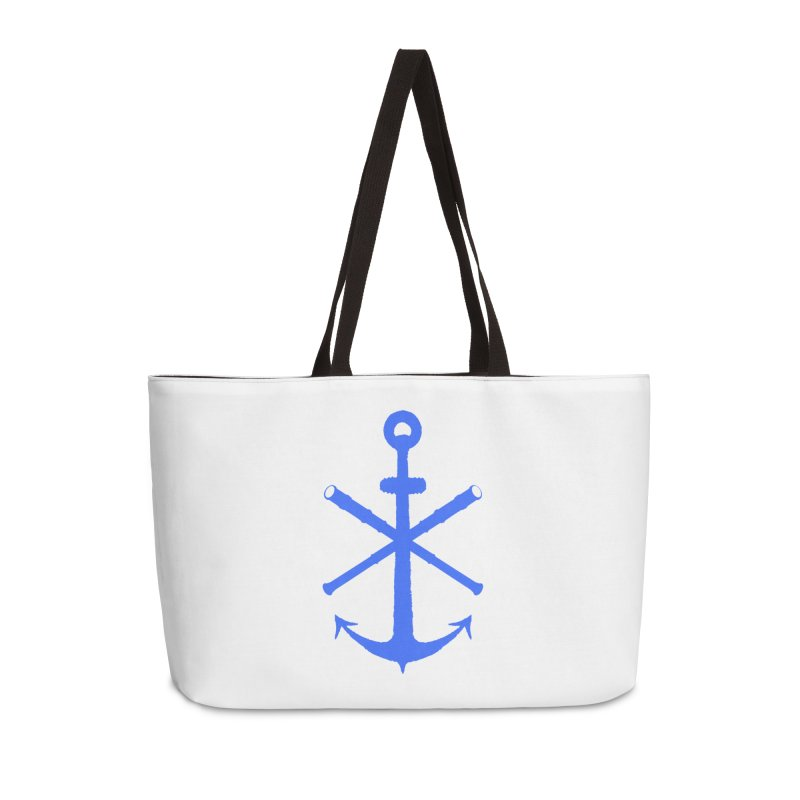 All Ways But Still Oversized Logo - Blue Accessories Weekender Bag Bag by Sailor James