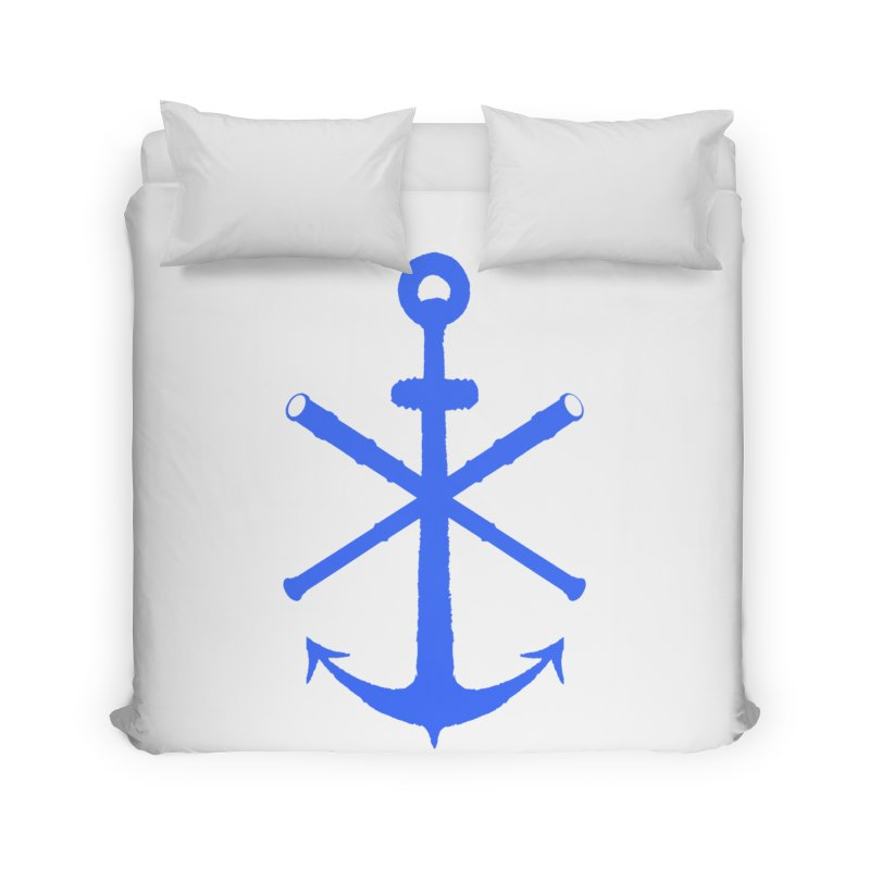 All Ways But Still Oversized Logo - Blue Home Duvet by Sailor James