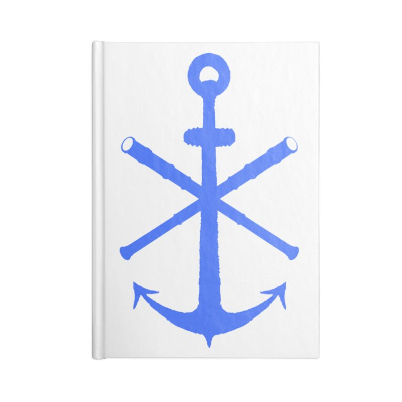 All Ways But Still Oversized Logo - Blue Accessories Blank Journal Notebook by Sailor James