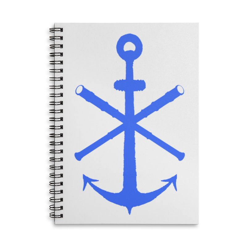 All Ways But Still Oversized Logo - Blue Accessories Lined Spiral Notebook by Sailor James