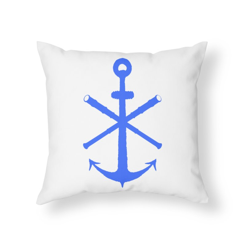 All Ways But Still Oversized Logo - Blue Home Throw Pillow by Sailor James