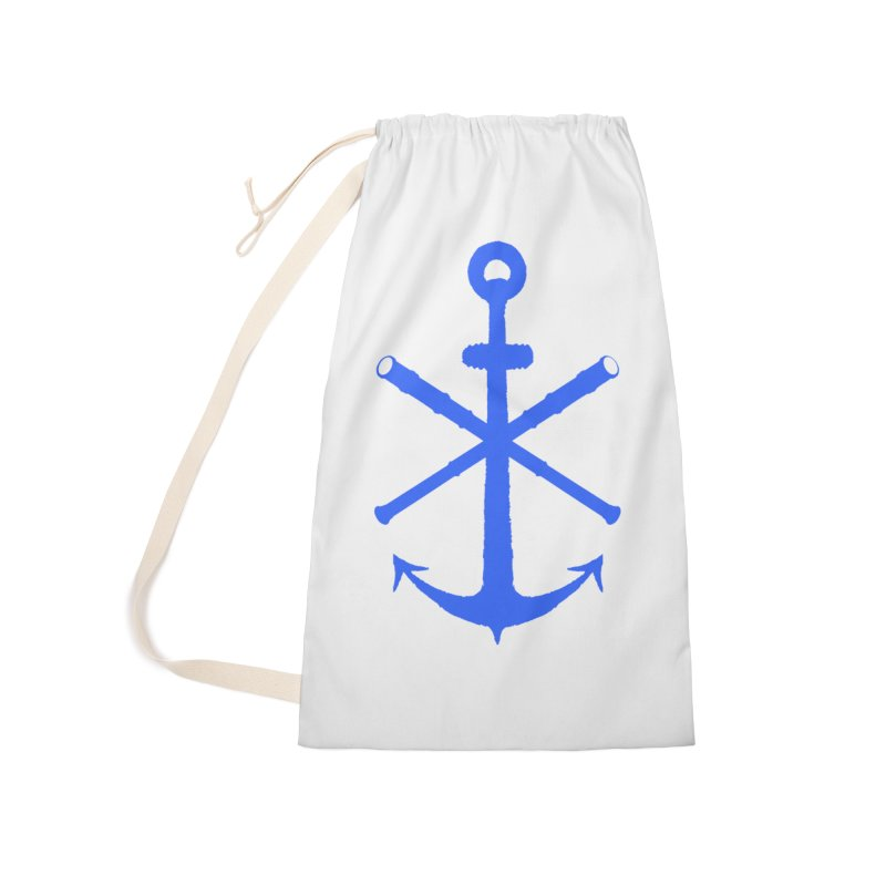 All Ways But Still Oversized Logo - Blue Accessories Laundry Bag Bag by Sailor James