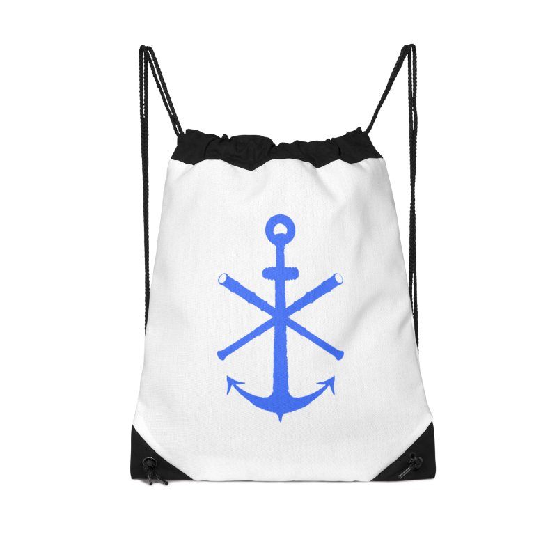 All Ways But Still Oversized Logo - Blue Accessories Drawstring Bag Bag by Sailor James