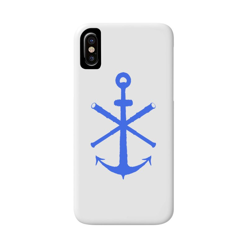All Ways But Still Oversized Logo - Blue Accessories Phone Case by Sailor James