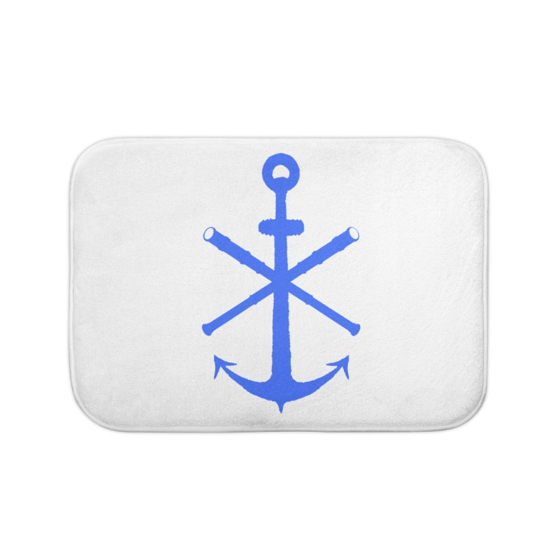 All Ways But Still Oversized Logo - Blue Home Bath Mat by Sailor James