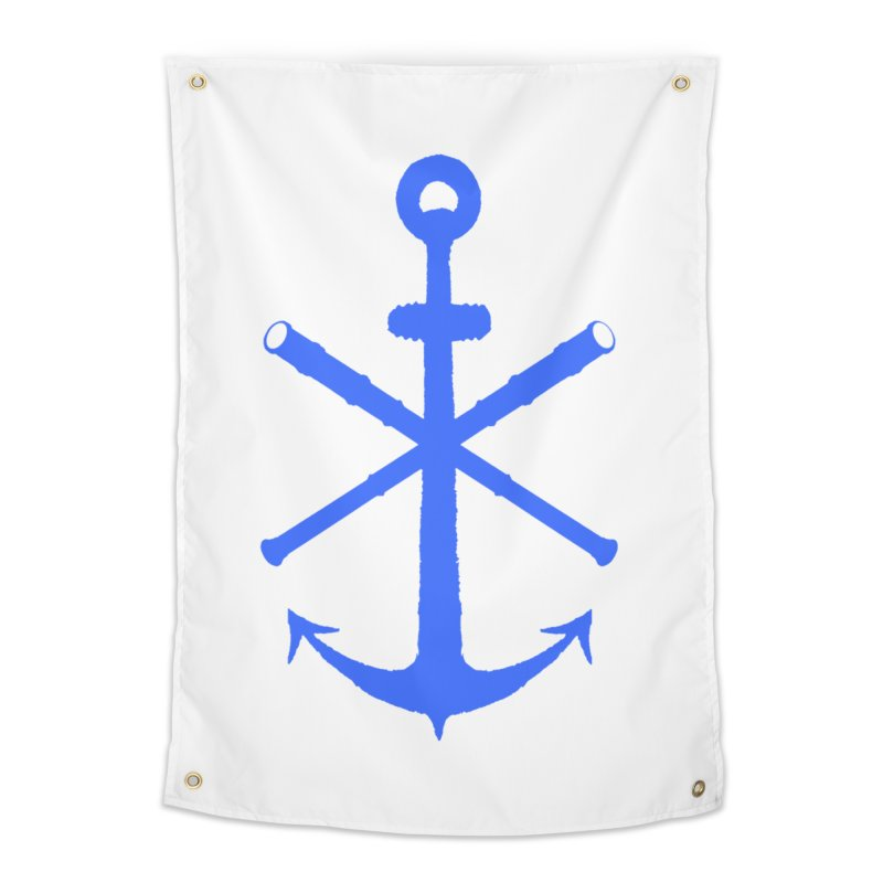 All Ways But Still Oversized Logo - Blue Home Tapestry by Sailor James