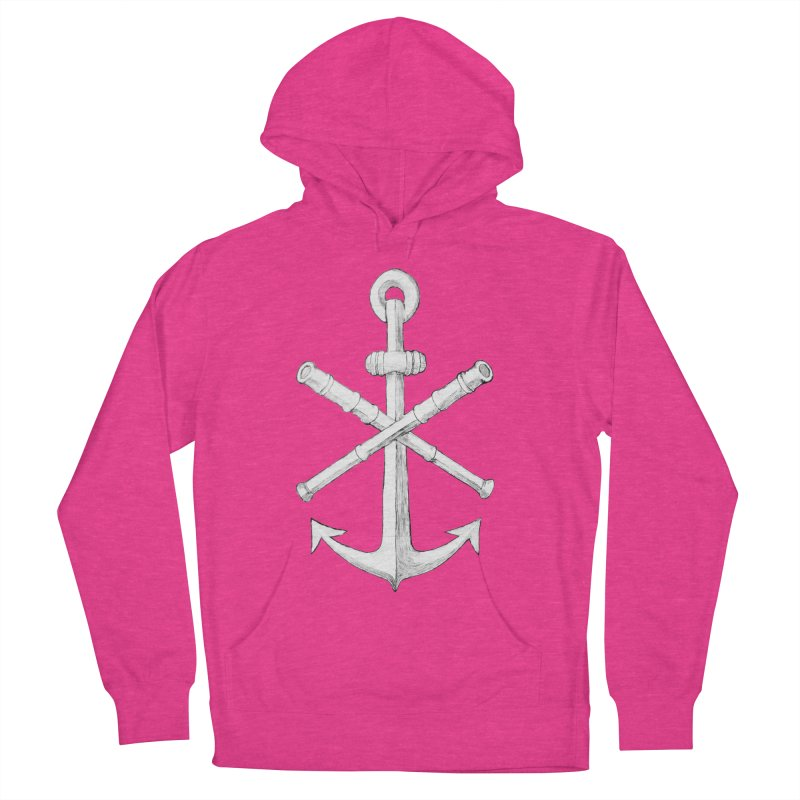 ALL WAYS BUT STILL Oversized Logo - Drawing Women's French Terry Pullover Hoody by Sailor James