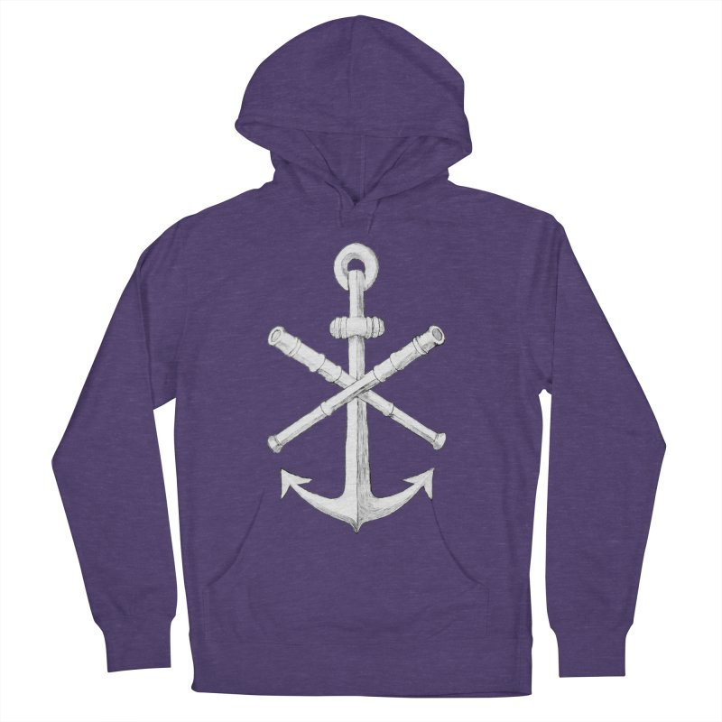 ALL WAYS BUT STILL Oversized Logo - Drawing Men's French Terry Pullover Hoody by Sailor James