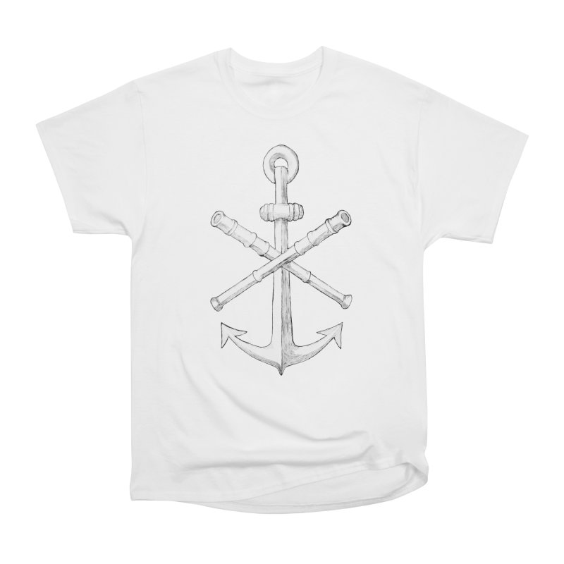 ALL WAYS BUT STILL Oversized Logo - Drawing Women's Heavyweight Unisex T-Shirt by Sailor James