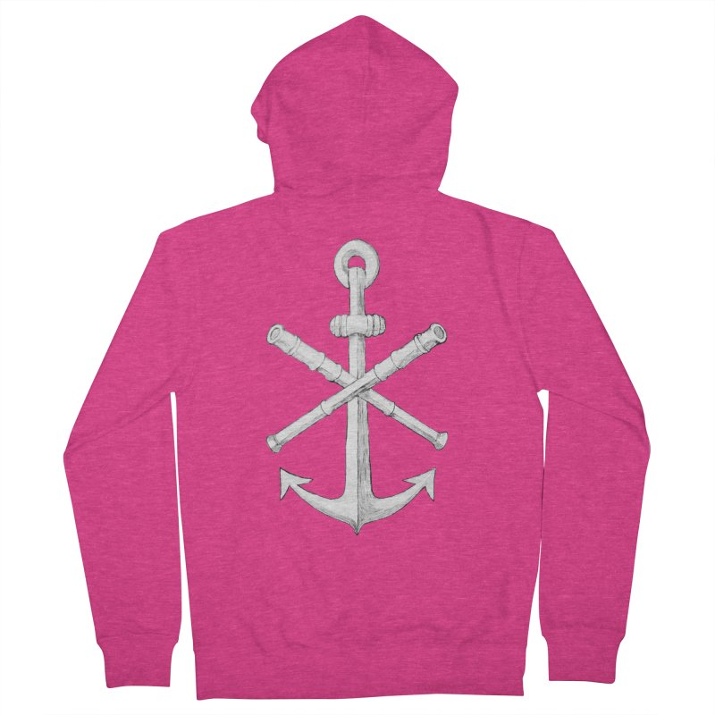 ALL WAYS BUT STILL Oversized Logo - Drawing Women's French Terry Zip-Up Hoody by Sailor James