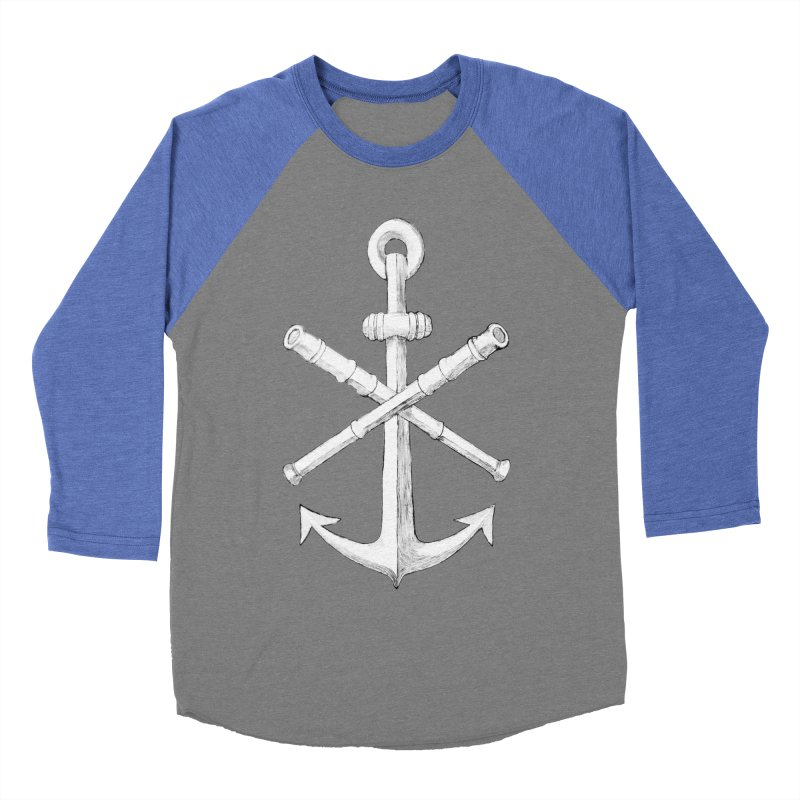 ALL WAYS BUT STILL Oversized Logo - Drawing Men's Baseball Triblend Longsleeve T-Shirt by Sailor James