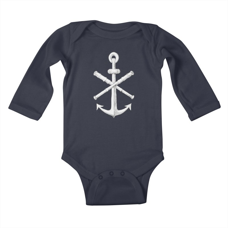 ALL WAYS BUT STILL Oversized Logo - Drawing Kids Baby Longsleeve Bodysuit by Sailor James