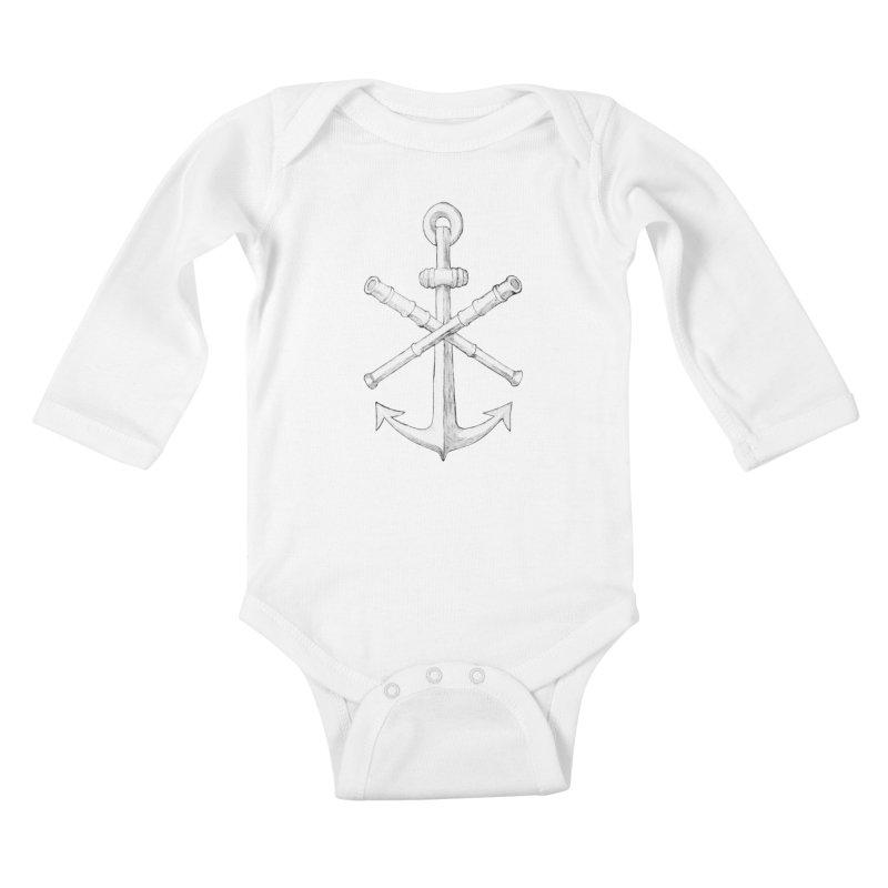 ALL WAYS BUT STILL Oversized Logo - Drawing Kids Baby Longsleeve Bodysuit by Sailor James