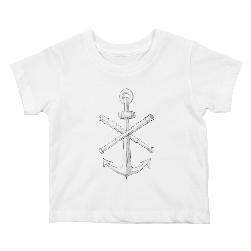 ALL WAYS BUT STILL Oversized Logo - Drawing Kids Baby T-Shirt by Sailor James
