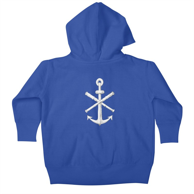 ALL WAYS BUT STILL Oversized Logo - Drawing Kids Baby Zip-Up Hoody by Sailor James