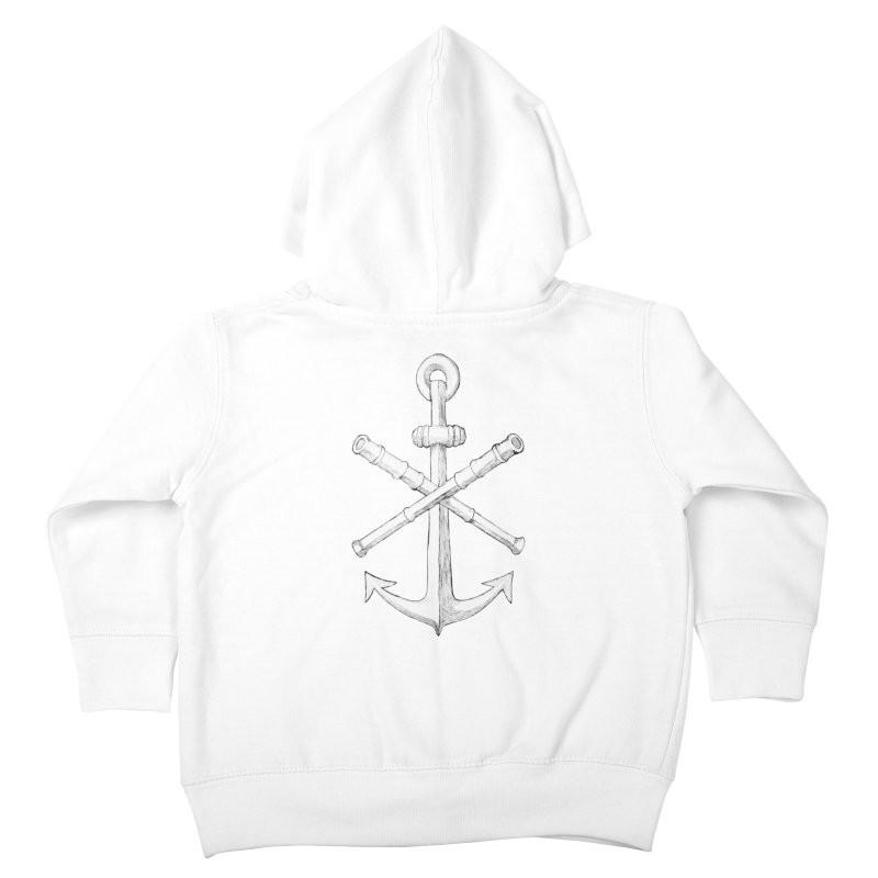 ALL WAYS BUT STILL Oversized Logo - Drawing Kids Toddler Zip-Up Hoody by Sailor James