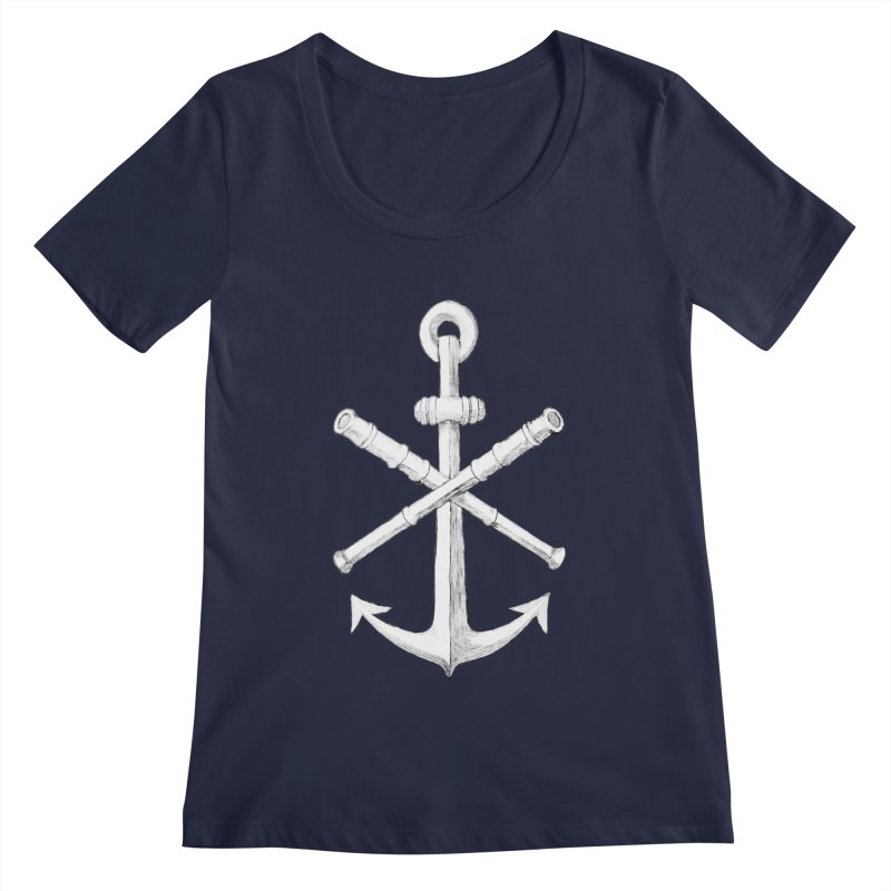 ALL WAYS BUT STILL Oversized Logo - Drawing Women's Regular Scoop Neck by Sailor James