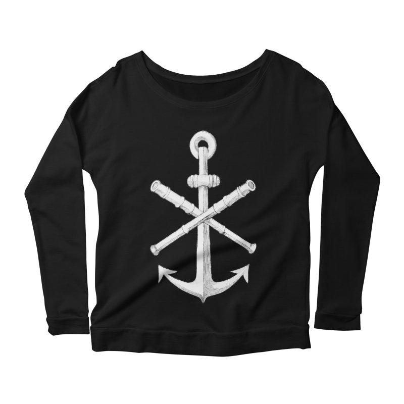 ALL WAYS BUT STILL Oversized Logo - Drawing Women's Scoop Neck Longsleeve T-Shirt by Sailor James