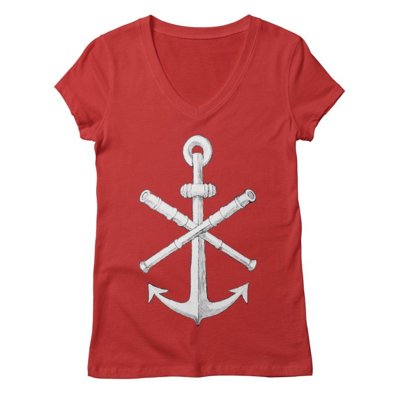 ALL WAYS BUT STILL Oversized Logo - Drawing Women's Regular V-Neck by Sailor James