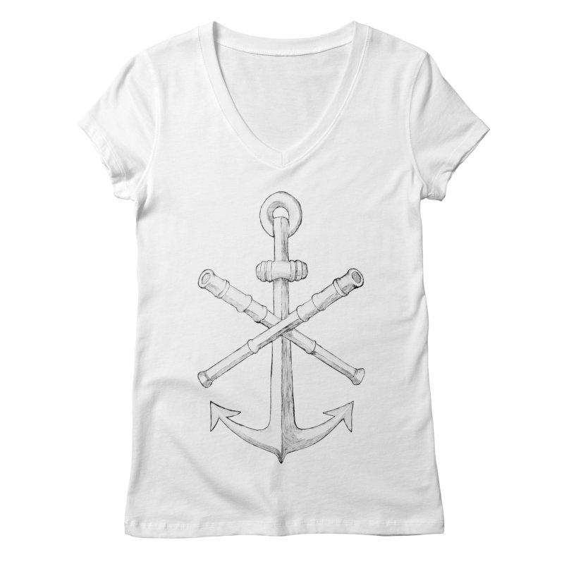 ALL WAYS BUT STILL Oversized Logo - Drawing Women's Regular V-Neck by Sailor James