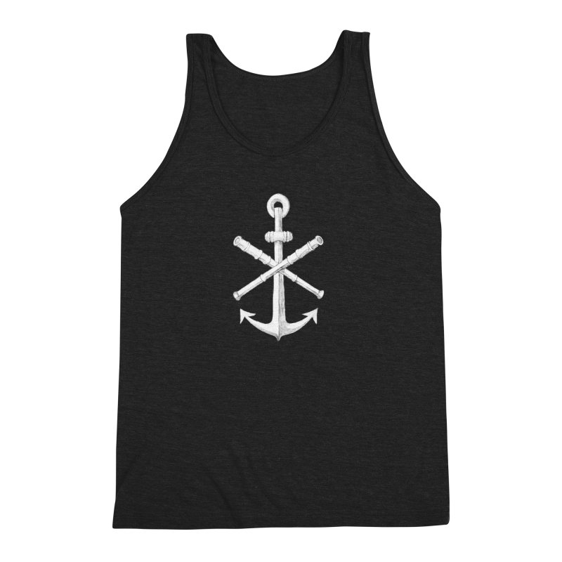 ALL WAYS BUT STILL Oversized Logo - Drawing Men's Tank by Sailor James