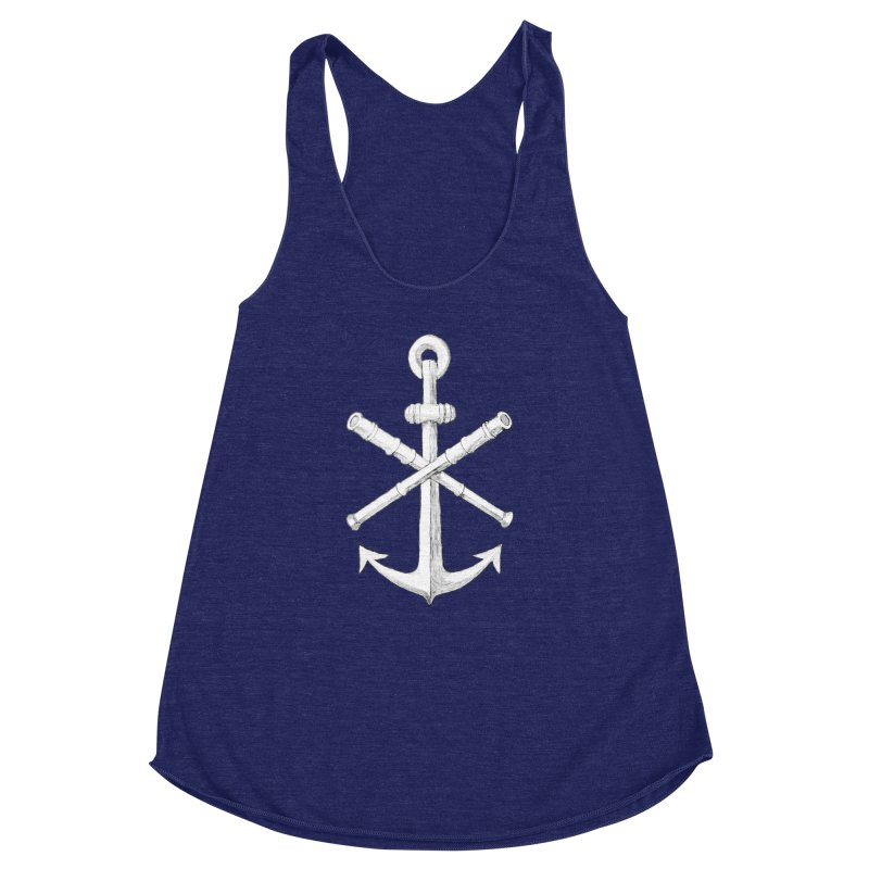 ALL WAYS BUT STILL Oversized Logo - Drawing Women's Racerback Triblend Tank by Sailor James