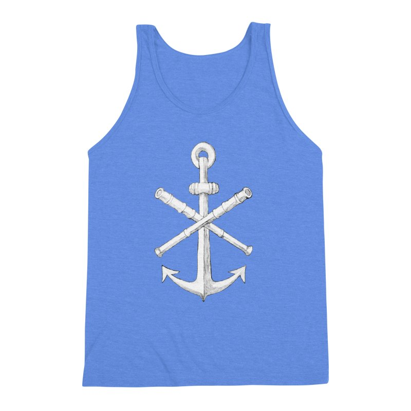 ALL WAYS BUT STILL Oversized Logo - Drawing Men's Triblend Tank by Sailor James