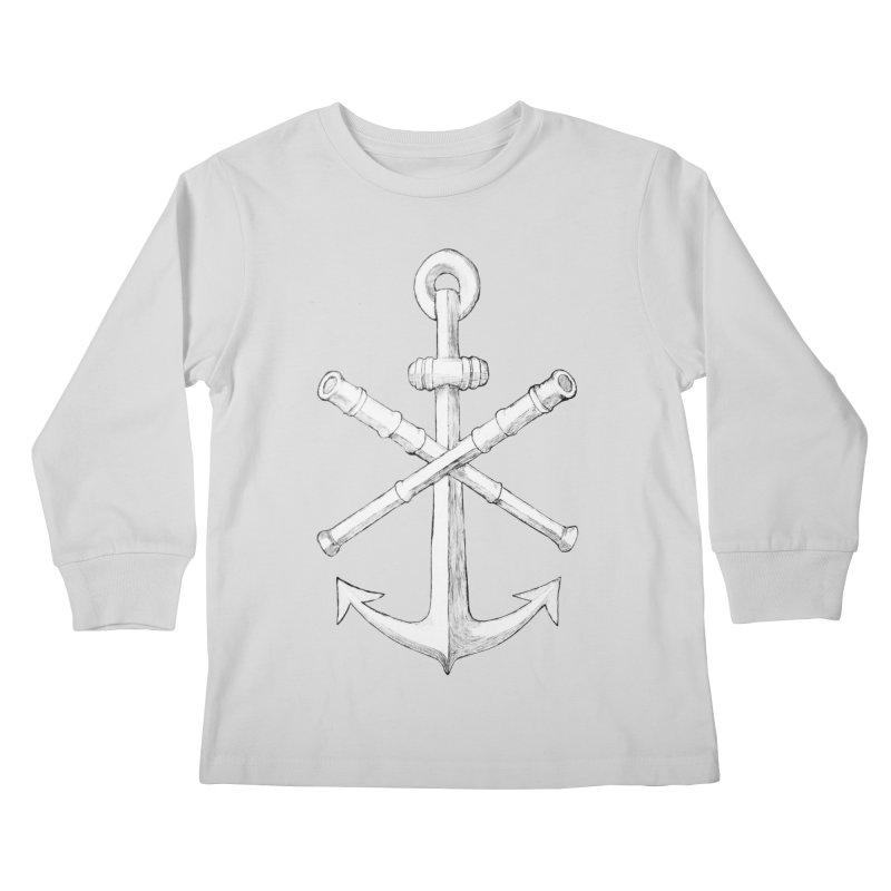 ALL WAYS BUT STILL Oversized Logo - Drawing Kids Longsleeve T-Shirt by Sailor James