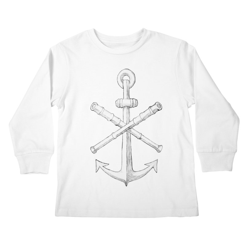 ALL WAYS BUT STILL Oversized Logo - Drawing Kids Longsleeve T-Shirt by Sailor James
