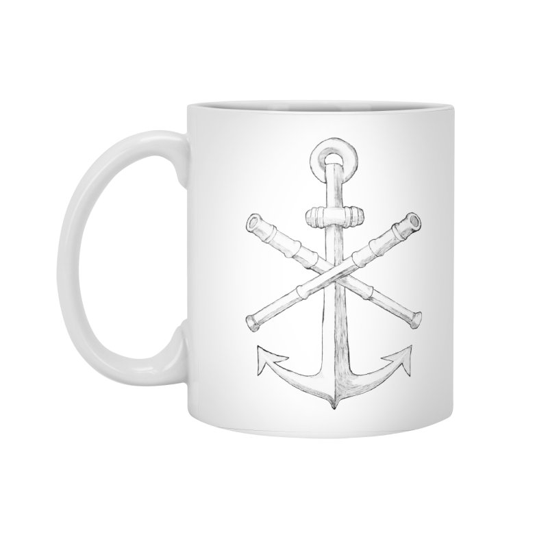 ALL WAYS BUT STILL Oversized Logo - Drawing Accessories Standard Mug by Sailor James