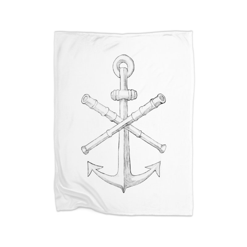ALL WAYS BUT STILL Oversized Logo - Drawing Home Blanket by Sailor James