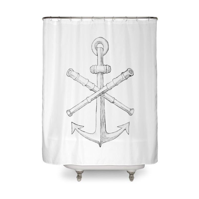 ALL WAYS BUT STILL Oversized Logo - Drawing Home Shower Curtain by Sailor James