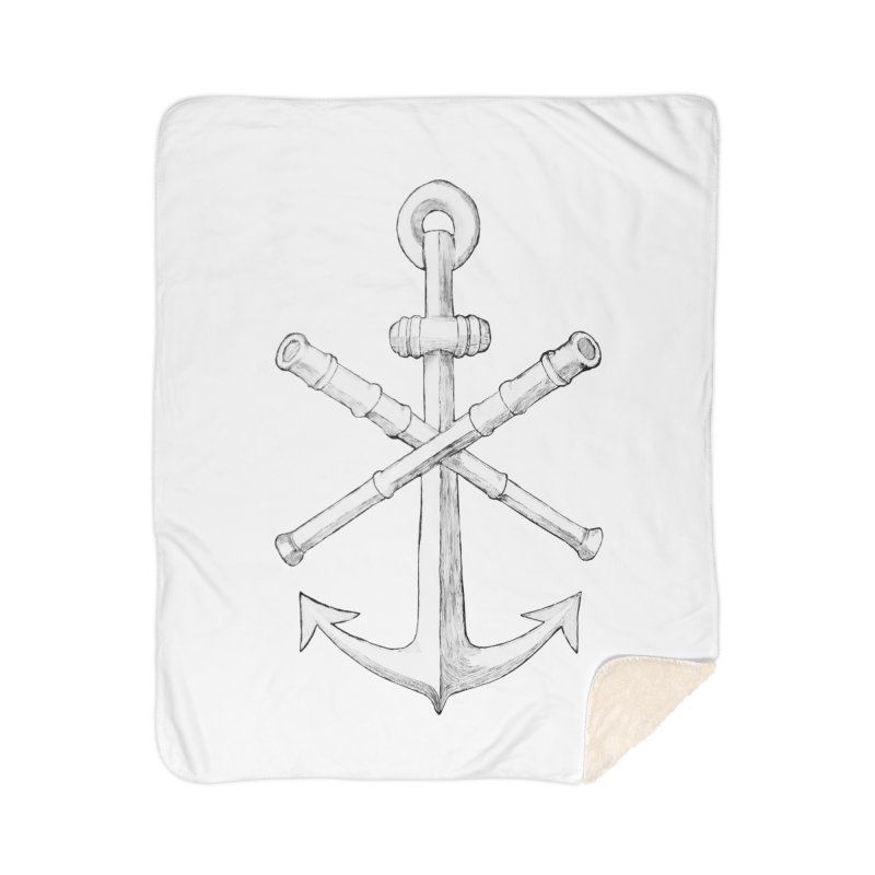 ALL WAYS BUT STILL Oversized Logo - Drawing Home Sherpa Blanket Blanket by Sailor James
