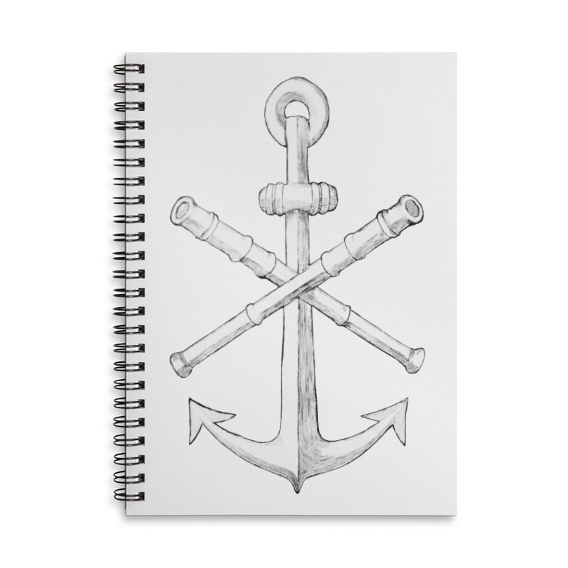 ALL WAYS BUT STILL Oversized Logo - Drawing Accessories Lined Spiral Notebook by Sailor James