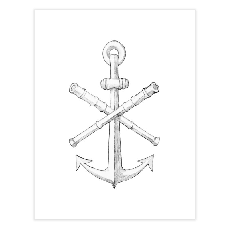 ALL WAYS BUT STILL Oversized Logo - Drawing Home Fine Art Print by Sailor James