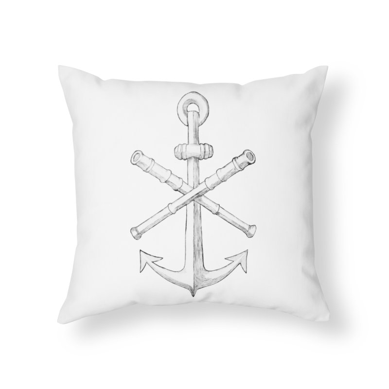 ALL WAYS BUT STILL Oversized Logo - Drawing Home Throw Pillow by Sailor James