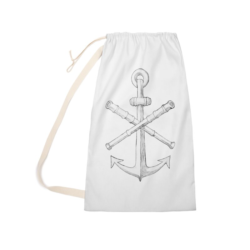 ALL WAYS BUT STILL Oversized Logo - Drawing Accessories Laundry Bag Bag by Sailor James