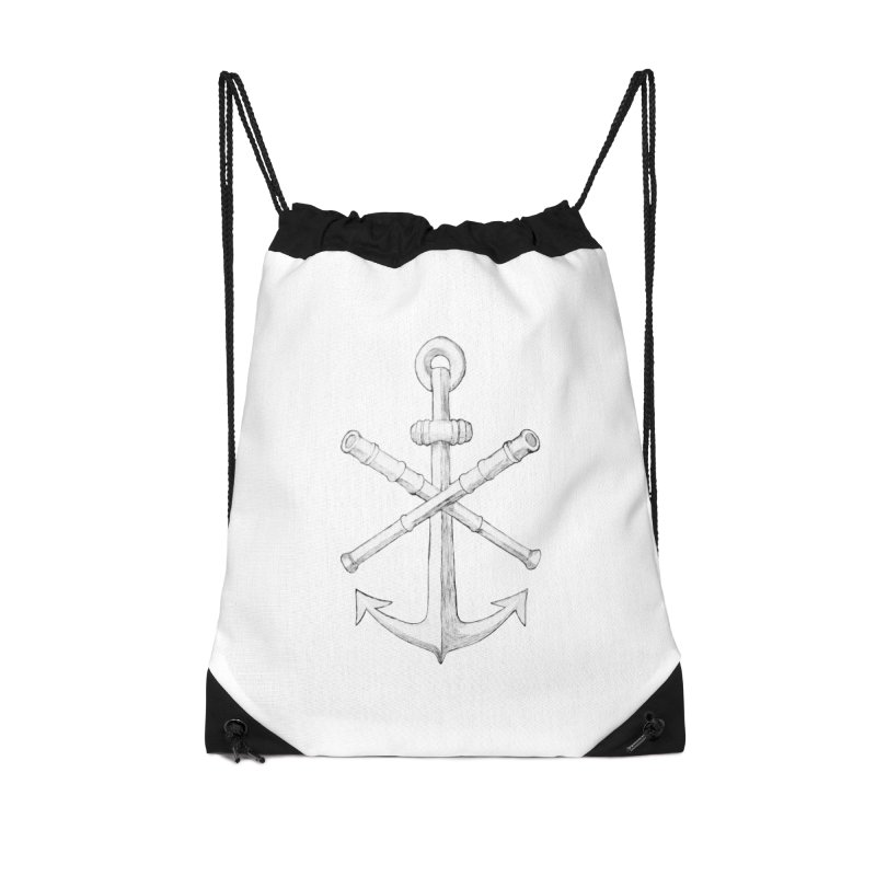 ALL WAYS BUT STILL Oversized Logo - Drawing Accessories Drawstring Bag Bag by Sailor James