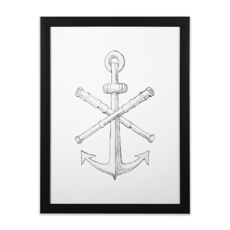 ALL WAYS BUT STILL Oversized Logo - Drawing Home Framed Fine Art Print by Sailor James