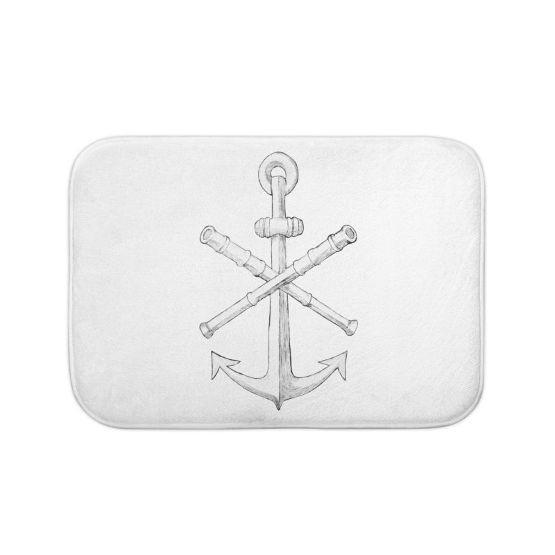 ALL WAYS BUT STILL Oversized Logo - Drawing Home Bath Mat by Sailor James