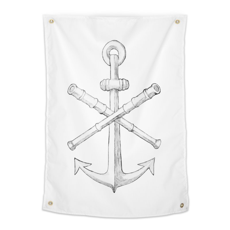 ALL WAYS BUT STILL Oversized Logo - Drawing Home Tapestry by Sailor James