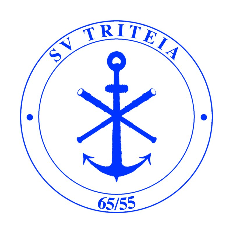 Sailing Vessel Triteia - AWBS logo Home Shower Curtain by Sailor James