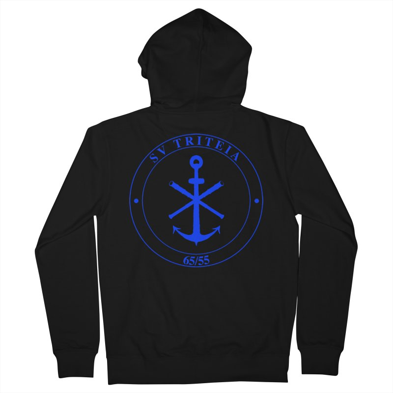 Sailing Vessel Triteia - AWBS logo Men's French Terry Zip-Up Hoody by Sailor James