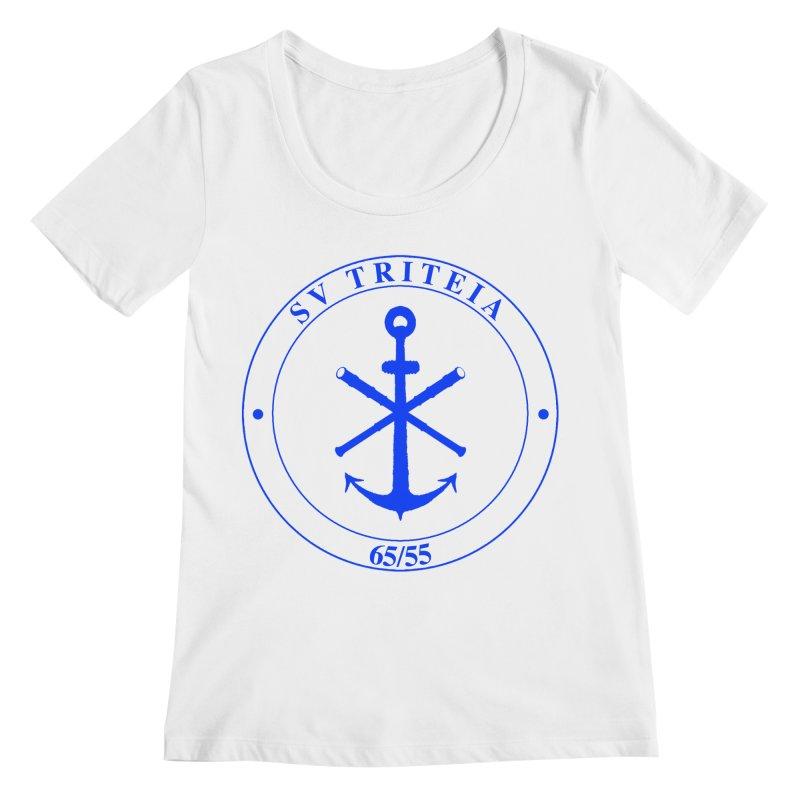 Sailing Vessel Triteia - AWBS logo Women's Regular Scoop Neck by Sailor James