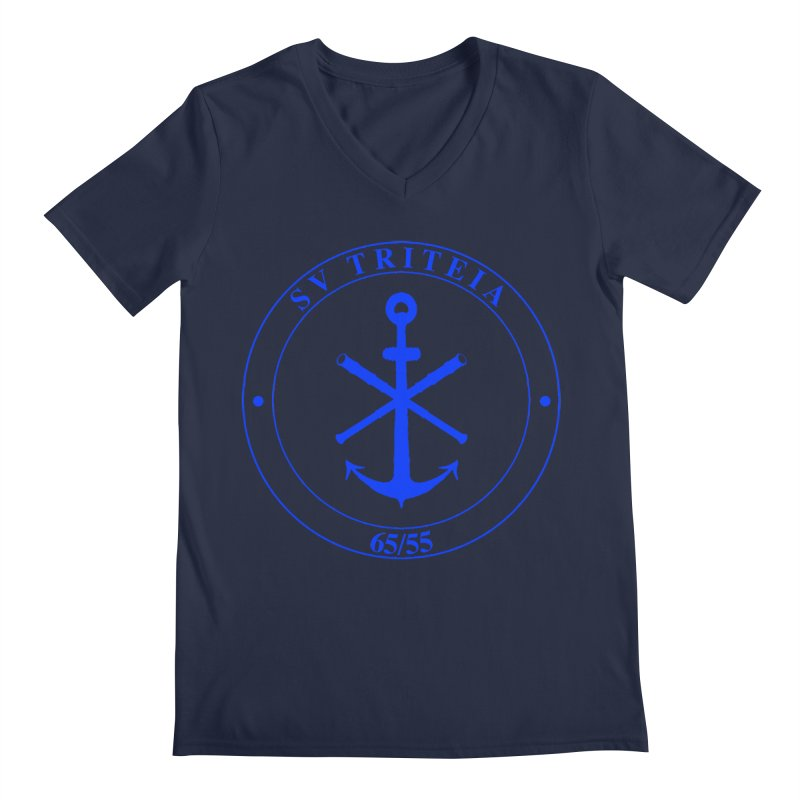 Sailing Vessel Triteia - AWBS logo Men's Regular V-Neck by Sailor James